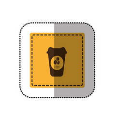 color emblem coffee espresso icon vector image vector image