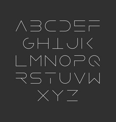 Extra thin line style linear uppercase modern vector