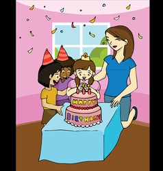 Family birthday party vector image vector image