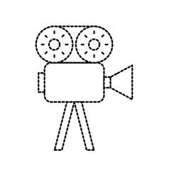film camera recorder movie reel tape vector image