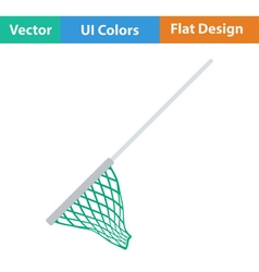 Flat design icon of fishing net vector