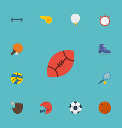 flat icons blower american football basket and vector image vector image