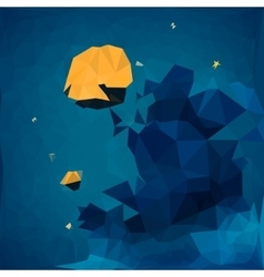 Geometric background of starry sky vector