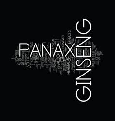 Ginseng panax text background word cloud concept vector