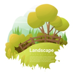Green landscape background vector image vector image