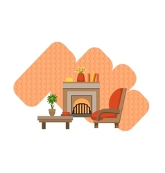 Guest Room Interior Design vector image vector image