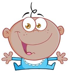 Happy baby cartoons vector image vector image