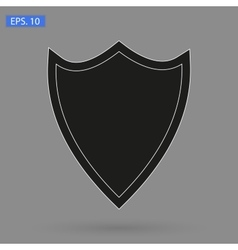 image icon black shield vector image