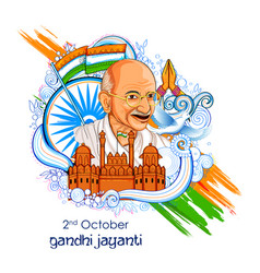 India background for 2nd october gandhi jayanti vector