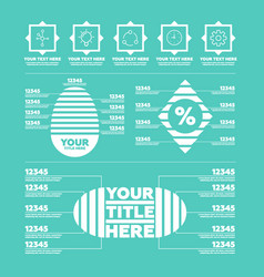 Infographic elements steps icons and charts vector
