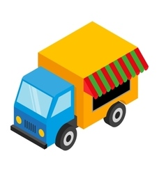 Isometric food van vector image