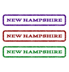 new hampshire watermark stamp vector image vector image