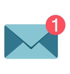 New message flat icon email and website button vector