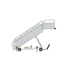 Passenger ladder for plane boarding icon vector
