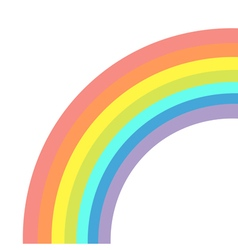 Rainbow on white background Isolated Flat design vector image vector image