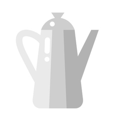 Stovetop whistling kettle kitchen teapot flat vector image vector image
