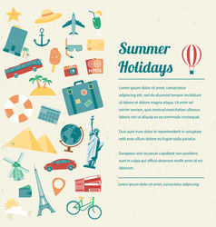 travel brochure travel and tourism concept vector image