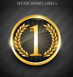 winner label design vector image vector image