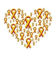 World hepatitis day 28 july yellow red ribbon vector