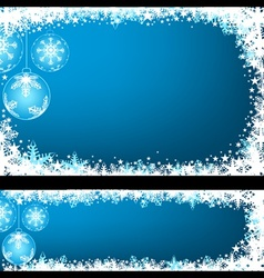 Blue christmas greeting vector