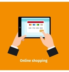 Credit card usage Online shopping vector image