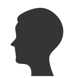 Silhouette head person profile isolated vector
