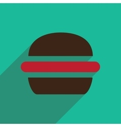 Flat icon with long shadow american burger vector