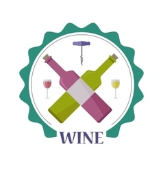 Wine Advertisement Poster Winemaking Concept vector image