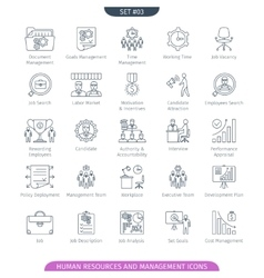 Human resources linear set 03 vector