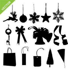 Silhouette christmas decoration vector