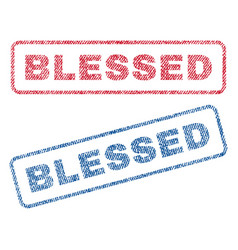 Blessed textile stamps vector