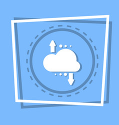 Cloud with arrow icon digital data backup storage vector