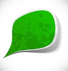 Green grunge speech label design vector