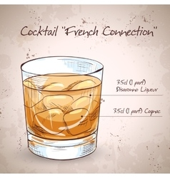 French connection cocktail vector