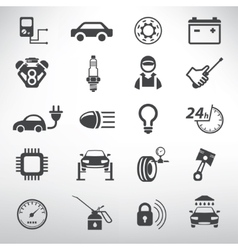 auto service icons set repair and spare parts vector image