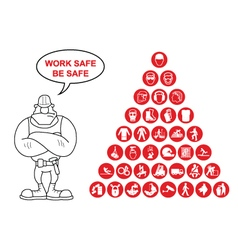 Pyramid Health and Safety Icon collection vector image