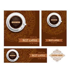 Coffee Print Template vector image