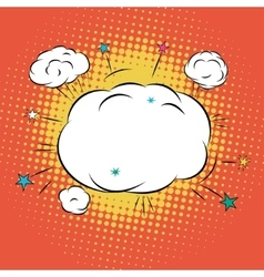 Cloud for comic book bubble text vector