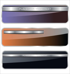 Banners metallic set vector