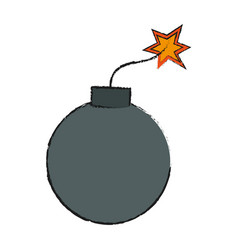 bomb icon image vector image vector image
