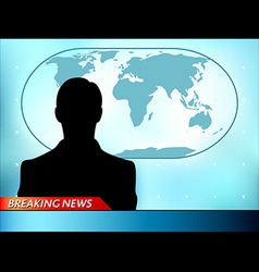 breaking tv news vector image vector image