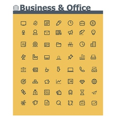 Business and office icon set vector image vector image