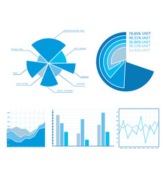 Business diagrams set vector