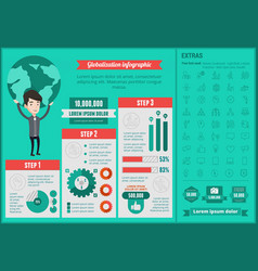 Business glablozation infographic template vector