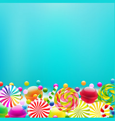 Color lollypop border vector