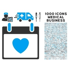 Favourite heart calendar day icon with 1000 vector