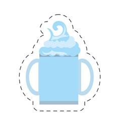 Freshly smoothie healthy beverage cut line vector