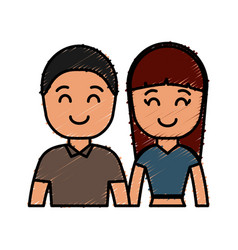 Happy couple icon vector
