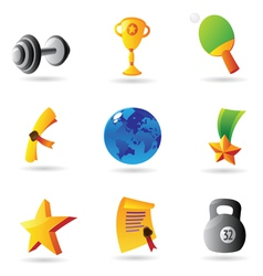 Icons for sport and awards vector