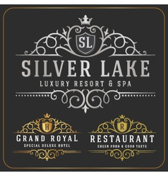 Luxurious Royal Logo Re-sizable Design vector image